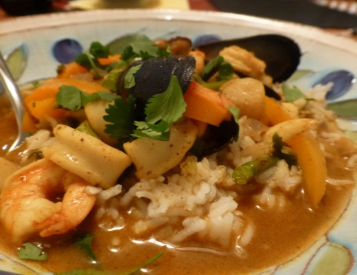 Red Curry Seafood Mix | www.vegetariant.com