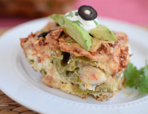 Stuffed Chile Relleno Enchilada Casserole (Baked) | www.vegetariant.com