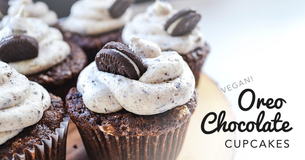 Oreo Chocolate Cupcakes | Featured on www.vegetariant.com