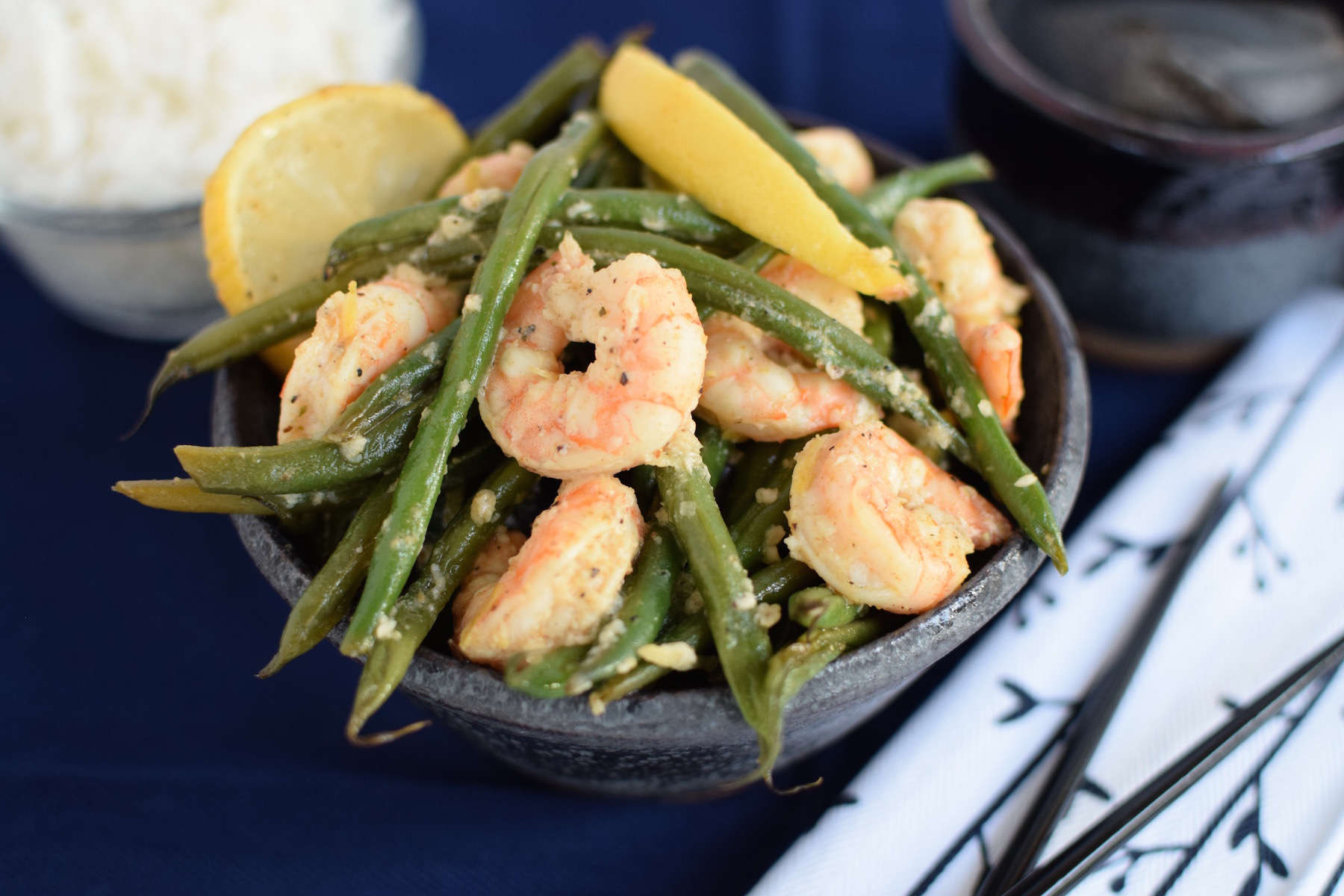 Lemon Shrimp & Green Beans | www.vegetariant.com